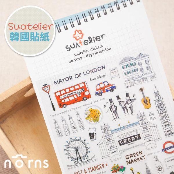 NORNS 【韓國 suatelier 貼紙-London】倫敦 英國 手帳 行事曆 照片 裝飾貼紙