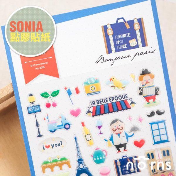 NORNS 韓國【SONIA Bonjour Paris 貼紙】巴黎 日記 手帳 行事曆 拍立得照片 裝飾貼紙