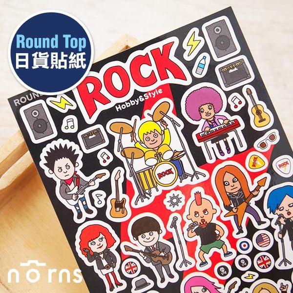 NORNS 【Round Top 日貨貼紙 Rock】搖滾 樂團 手帳 行事曆 拍立得照片 裝飾貼紙