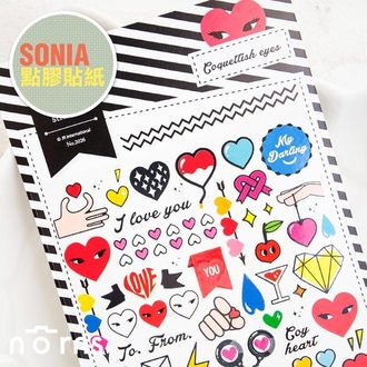 NORNS 【SONIA Conquettish Eyes 魅惑之眼貼紙】拍立得照片 手帳 行事曆 日記 裝飾貼紙