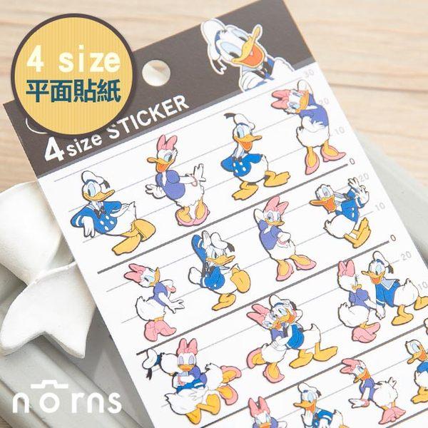 NORNS 【日貨4size貼紙 唐老鴨】 迪士尼 Donald Duck 手帳 行事曆 拍立得照片 裝飾貼紙