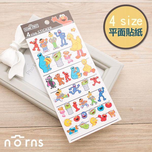 NORNS 日貨【4size貼紙-芝麻街】ELMO 大鳥 Cookie Oscar Sesame street 裝飾