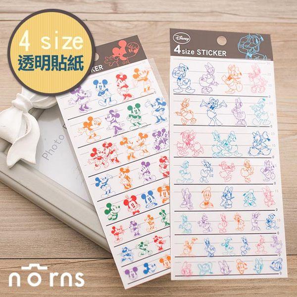 NORNS 日貨【4size透明貼紙-經典迪士尼】米老鼠 唐老鴨 米奇 裝飾貼紙 手帳 行事曆