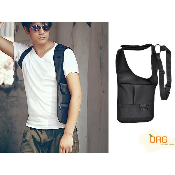 ORG《SG0040》第三代 隱藏式 腋下雙肩包 防盜包 腰包 特工包 隱形背包 背包 運動 側背包 大容量 收納包 0