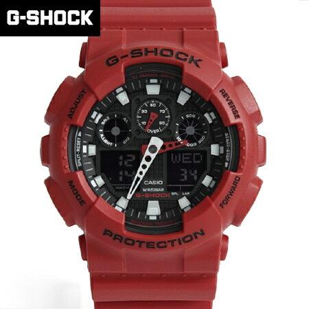 G-SHOCK 黑紅雙顯重機手錶 柒彩年代【NECG5】casio