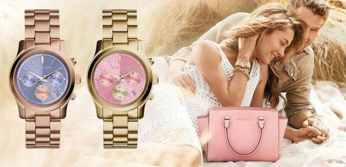 美國Outlet 正品代購 Michael Kors MK 三環 螢光紫精鋼 滿鑽 手錶 腕錶 MK6163 1