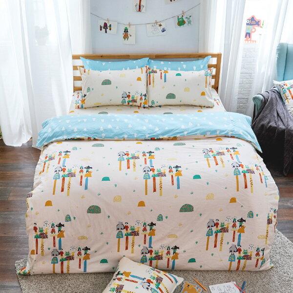 床包雙人-100%精梳棉【純真天賦】點點善獨家聯名,含兩件枕套,戀家小舖,台灣製