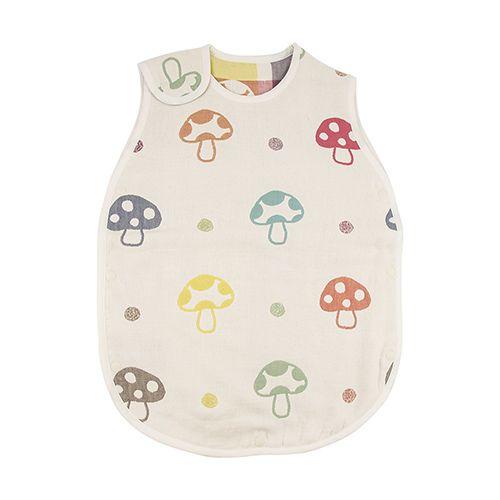 現貨!日本Hoppetta專賣店帶回!六層紗蘑菇防踢背心(幼童2-7歲)