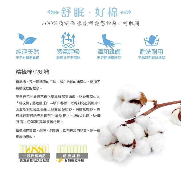 [滿額免運](夢影花) MIT台灣製作 精梳棉 雙人薄床包三件組[艾拉寢飾]