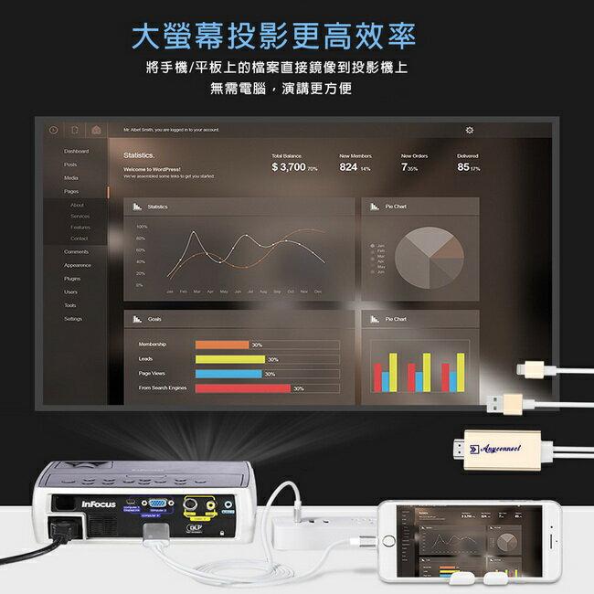【FL11香檳金】二代Anyconnect蘋果專用 HDMI鏡像影音線(加送3大好禮)