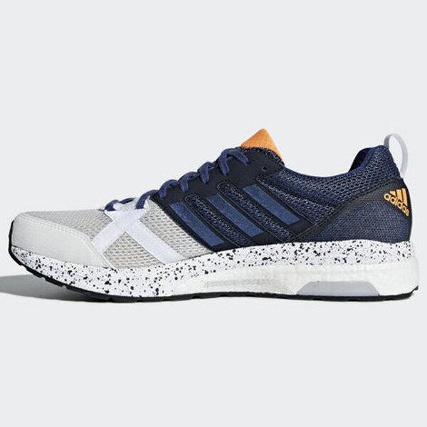 ADIDASadizeroTempo9男鞋慢跑透氣緩衝舒適輕量藍白黑【運動世界】BB6434