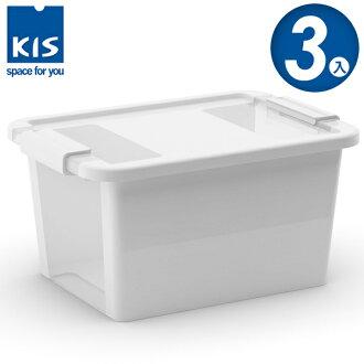E&J【012012-02】義大利 KIS BI BOX 單開收納箱 S 白色 3入;收納盒/整理箱/收納櫃/無印風