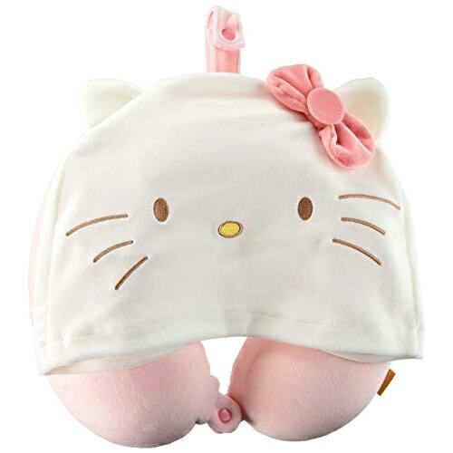連帽護頸枕-KITTY MELODY 凱蒂貓 美樂蒂 三麗鷗 Sanrio 日本進口