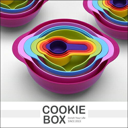 彩虹碗8件套烘培盤厨房小用具沙拉蔬菜藍過濾碗濾水碗霓虹碗廚具收納碗收納盤*餅乾盒子*