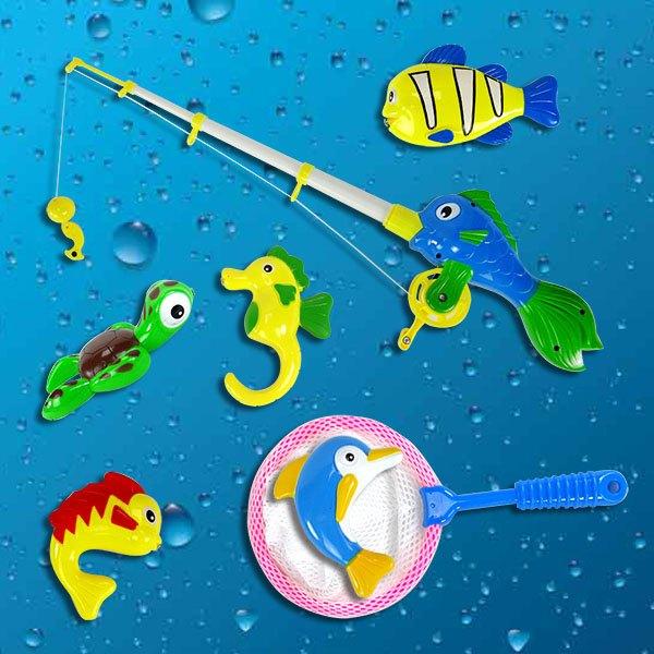 【888便利購】加大版5入海底動物洗澡釣釣樂+撈撈樂(668A)