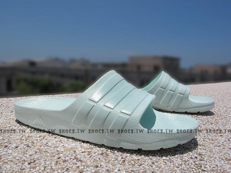 Shoestw【AQ2155】ADIDAS DURAMO SLIDE 拖鞋 一體成型 青蘋果綠 芒果青 男女生都有