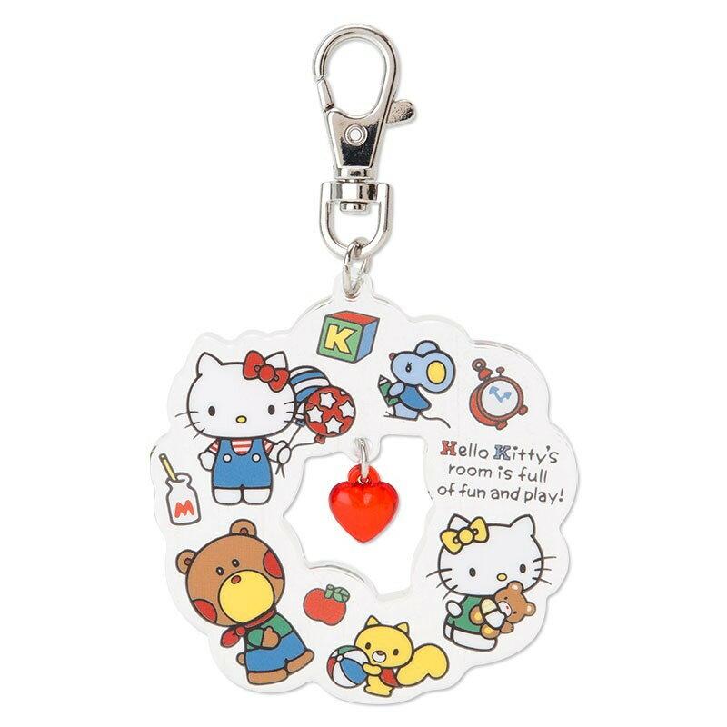 X射線【C641835】Hello Kitty 壓克力鑰匙圈,鑰匙圈/吊飾/玩偶/禮品/包包吊飾/掛飾