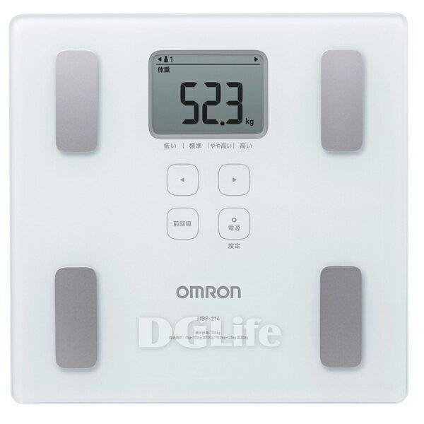 HBF-214  Omron 歐姆龍體重體脂肪計 白色 HBF214 限時優惠!!
