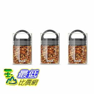 玉山最低比價網:[106美國直購]Prepara3009-3PKEVAK密封罐黑mini(3入1組)咖啡豆茶葉適用
