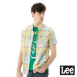 Lee 格紋短袖襯衫/RG -男款(黃藍格子)