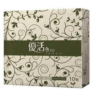LIVI 優活抽取式衛生紙(100抽x10包)/串【售完為止】