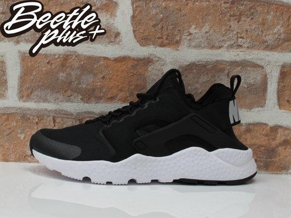 BEETLE WMNS AIR HUARACHE RUN ULTRA 二代 武士 黑白 慢跑鞋 819151-001