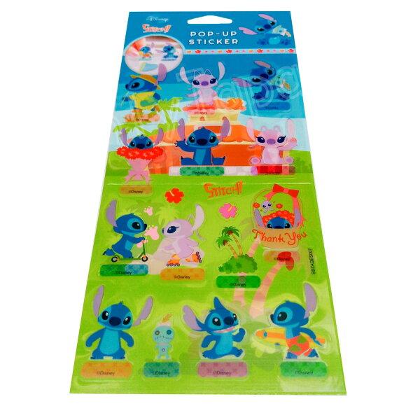 【真愛日本】18050800020迪士尼站立貼-史迪奇迪士尼史迪奇星際寶貝Angle貼紙站立標籤貼紙立標貼紙收藏