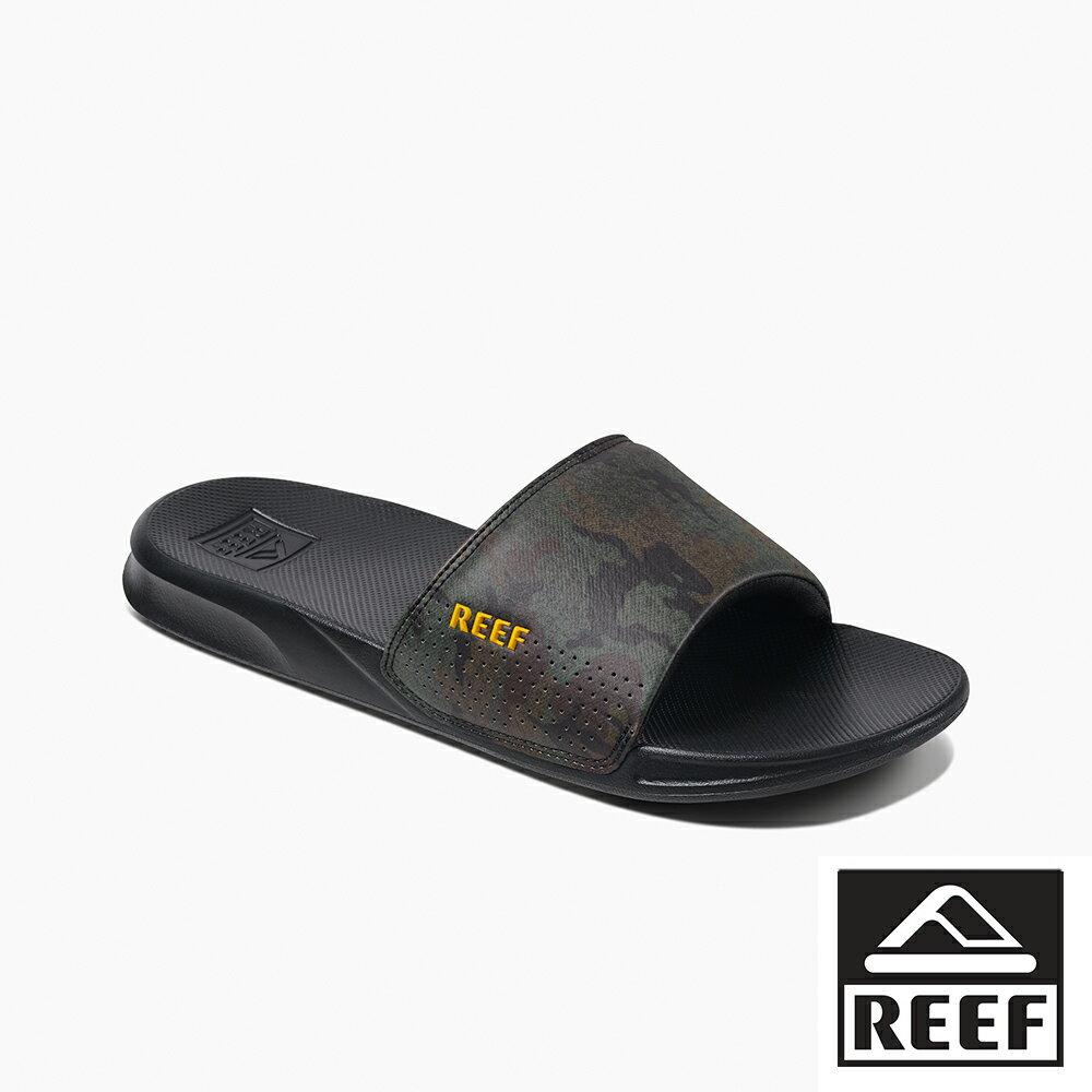 【新品上市】REEF 一片式人體工學 男款夾腳人字拖鞋 . 綠迷彩 RF0A3ONDGCM 0
