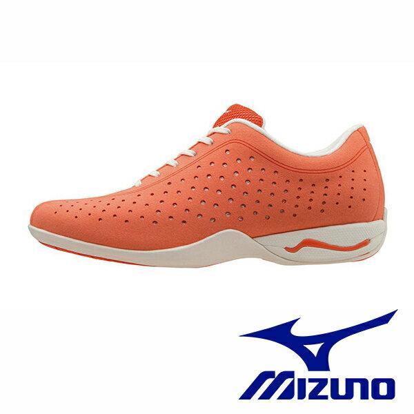【MIZUNO 單一特價$699 】MIZUNO WAVE LIMB DT2(W) 女休閒寬楦健走鞋 女 粉橘 休閒鞋運動鞋健走鞋 B1GF163354