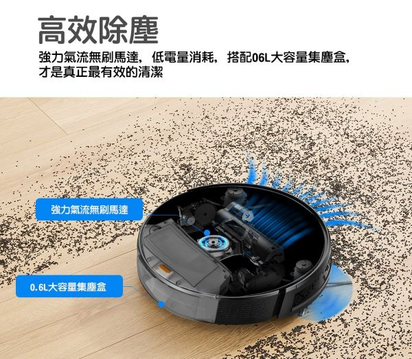 【Proscenic】台灣浦桑尼克 820S 超薄款 3合1智能掃地機器人 歐美版 僅付英文說明書 2