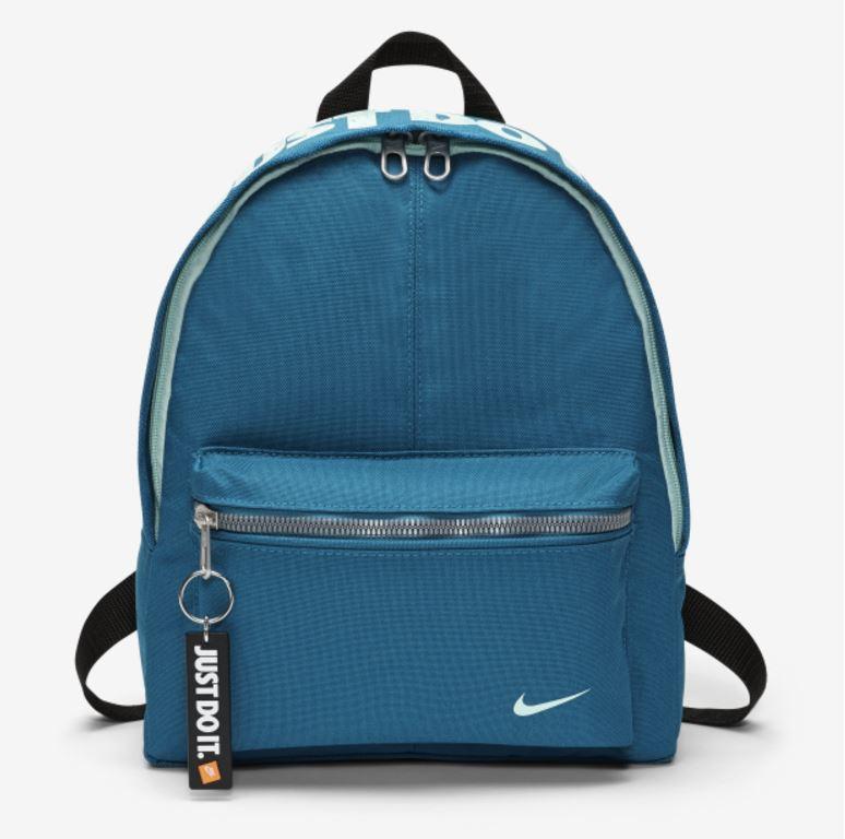 NIKE Y NK CLASSIC BASE BKPK 大童 後背包 可調式 藍綠【運動世界】BA4606-467