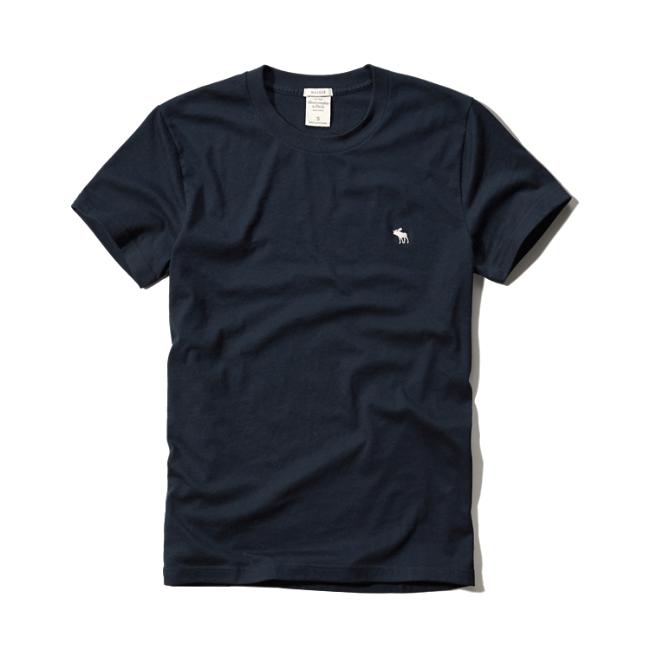 【蟹老闆】Abercrombie & Fitch【現貨】A&F 麋鹿 素面 經典 logo款 深藍