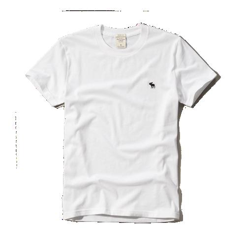 【蟹老闆】Abercrombie & Fitch【現貨】A&F 麋鹿 素面 經典 logo款 白色