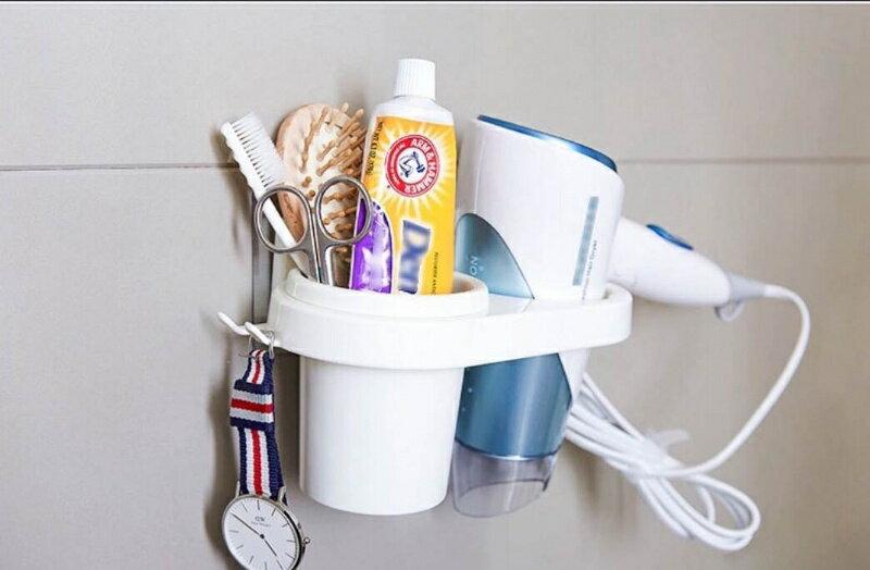 免打孔無痕掛鉤創意吸盤式吹風機架/吹風機架 浴室置物架 置物架