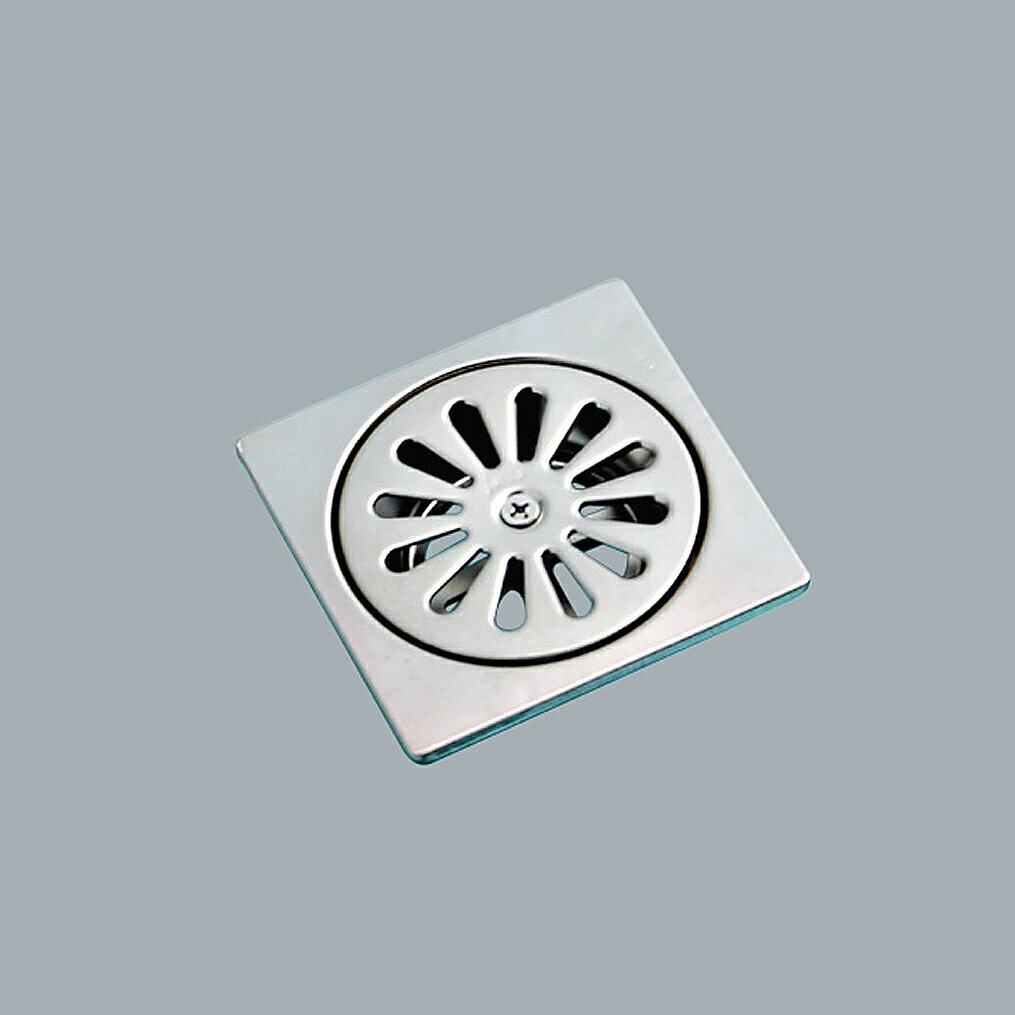 HCG不鏽鋼方型地板落水頭(無牙)/BF2605(1 1/2)
