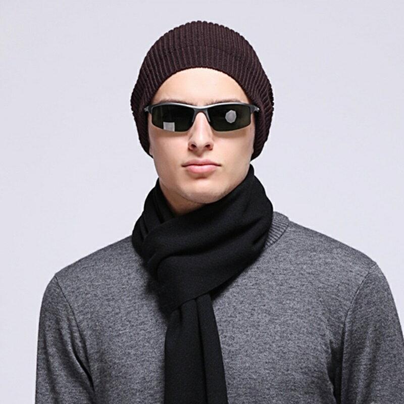 毛帽羊毛針織帽-純色休閒保暖護耳男帽子3色73wj51【獨家進口】【米蘭精品】 0