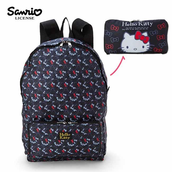 【日本進口】凱蒂貓 Hello Kitty 折疊 後背包 背包 防潑水 三麗鷗 Sanrio - 106846