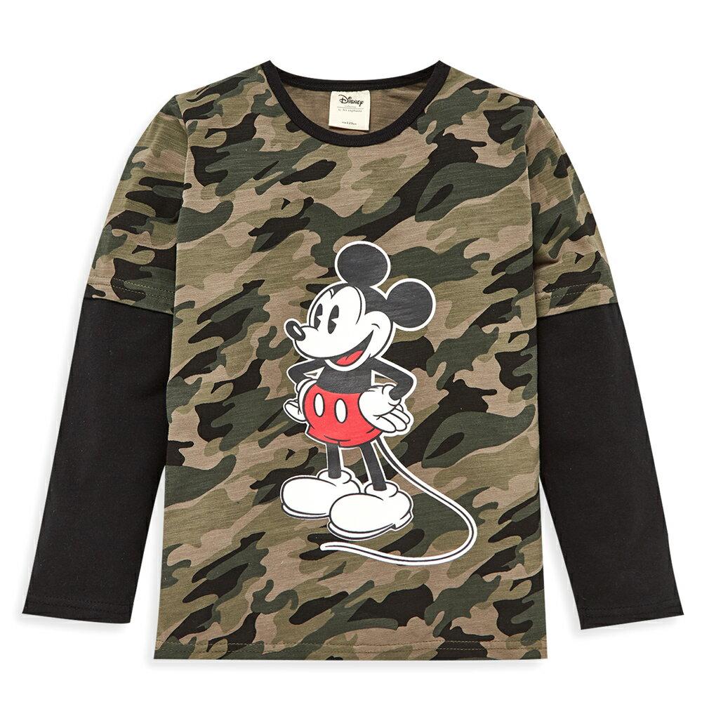 Disney 米奇系列帥氣迷彩假二件上衣-軍綠 - 限時優惠好康折扣