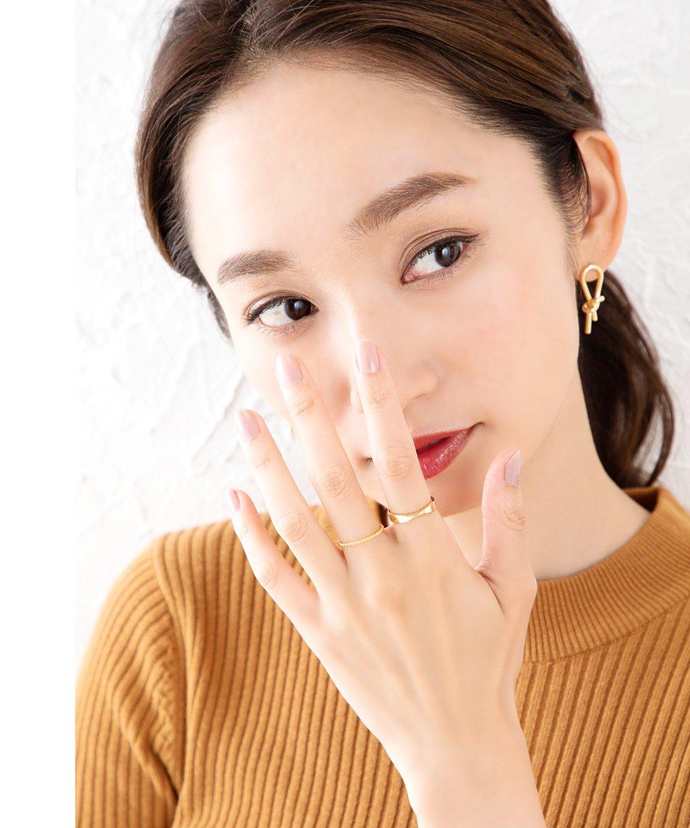 日本CREAM DOT  /  リング 指輪 ステンレス製 低アレルギー レディース 大きいサイズ 重ね付け 重ねづけ ツイスト 大人 上品 エレガント 華奢 シンプル フェミニン きれいめ  /  a03395  /  日本必買 日本樂天直送(990) 4