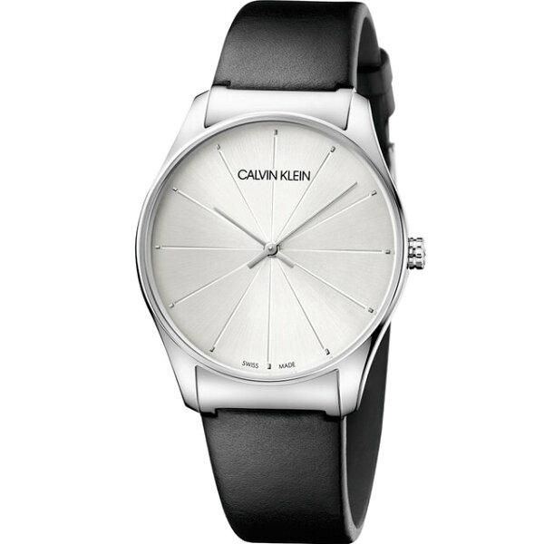 Calvinklein卡文克萊潮流系列(K4D211C6)經典線條時尚腕錶白38mm