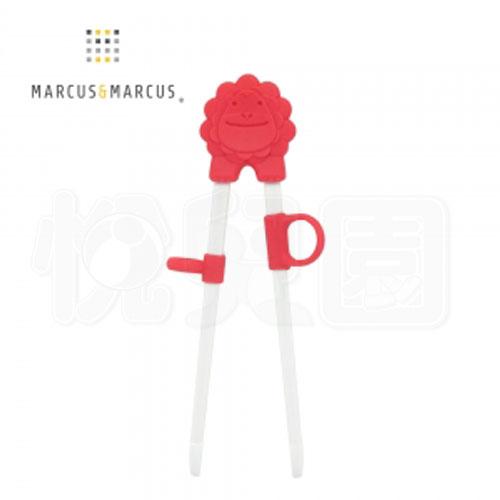 Marcus & Marcus 動物樂園幼兒學習筷-獅子(紅)【悅兒園婦幼生活館】 - 限時優惠好康折扣