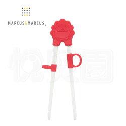 Marcus & Marcus 動物樂園幼兒學習筷-獅子(紅)【悅兒園婦幼生活館】