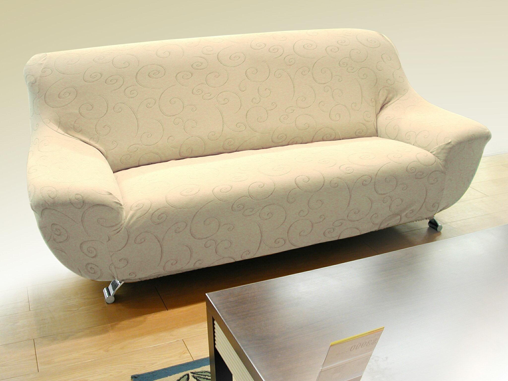 沙發罩(沙發套)/1+2+3人尺寸齊全/超細纖維彈性布/#155仿麂皮緹花勾花
