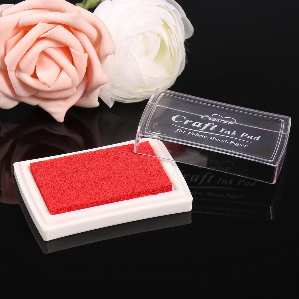 Sponge Square Stamps Craft Ink Pad for Paper Wood 15 Colors 1