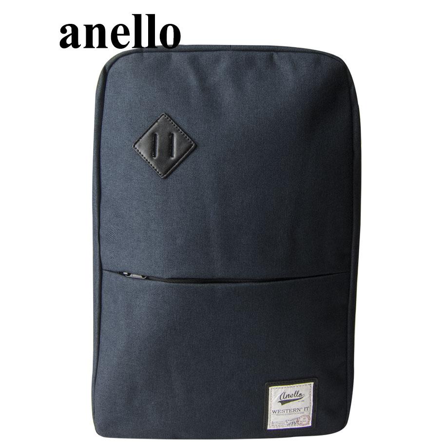 【momi宅便舖】anello 猪鼻子大開口後背包(藍) AU-A0135 AU-A0135