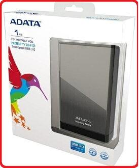 ADATA威剛 NH13 3.0 金屬髮絲紋黑色款 輕薄隨身外接式行動硬碟 三年保固