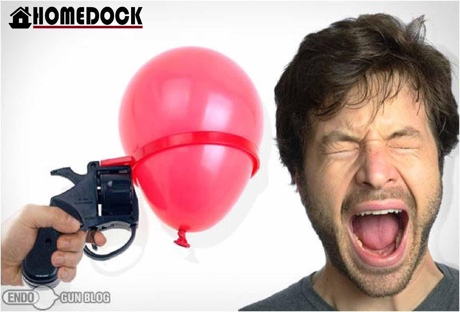 俄羅斯輪盤氣球手槍 派對/遊戲/玩具