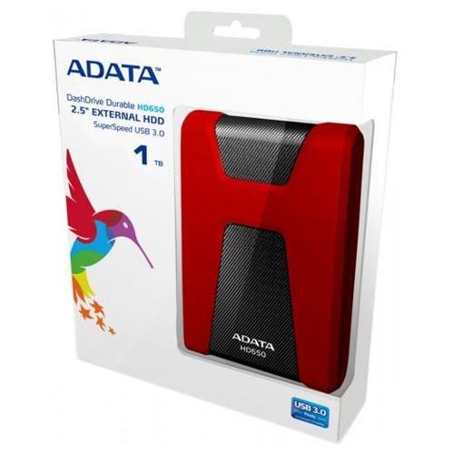 ADATA DashDrive HD650 USB 3.0 External HDD 1TB Red (AHD650-1TU3-CRD) 3