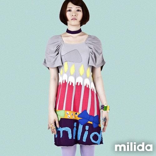 【Milida,全店七折免運】甜美公主袖超顯瘦洋裝 4