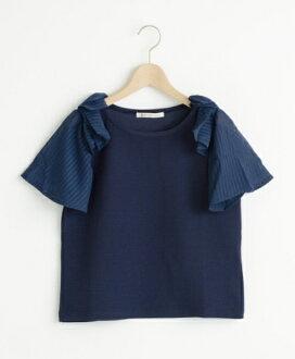 日本東京百貨帶回 ✈ MAJESTIC LEGON 氣質款 蝴蝶雪紡袖拼接上衣 (藍)